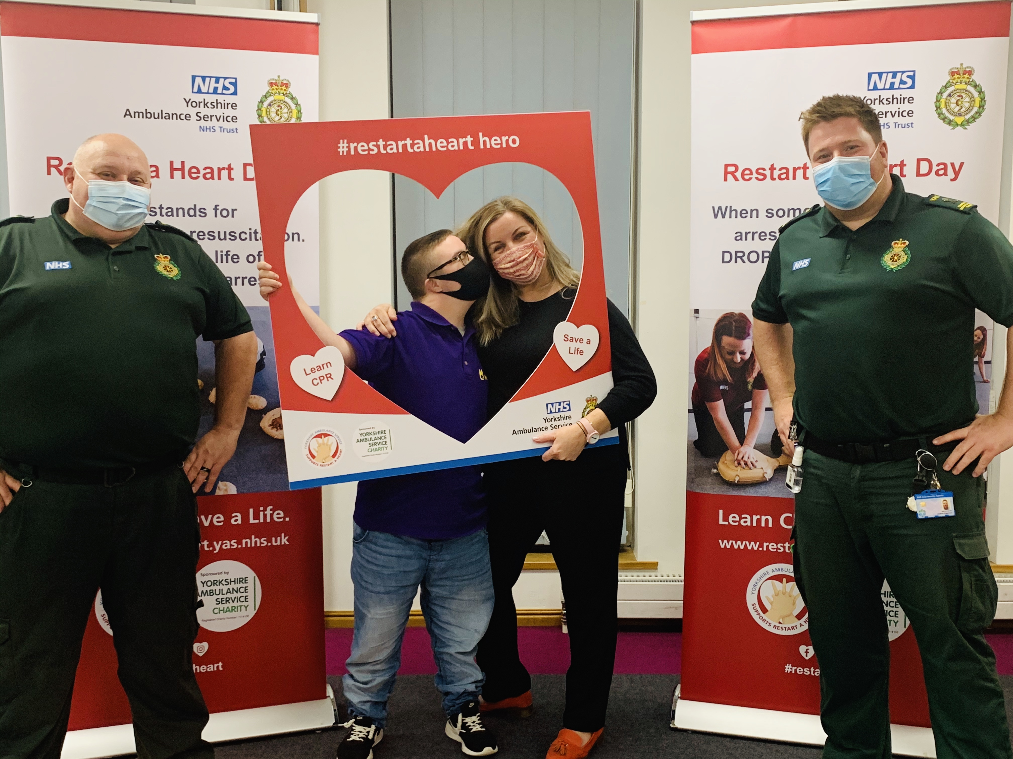Kerry and Felix with Yorkshire Ambulance Service