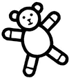 Makaton symbol for Teddy
