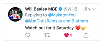 Will Bayley tweet