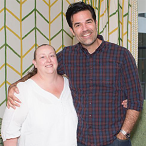 Tracy and Rob Delaney