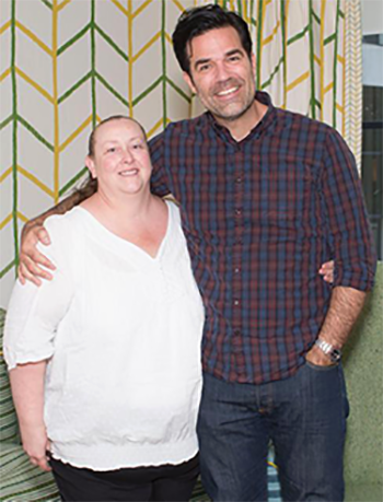 Tracy with Rob Delaney