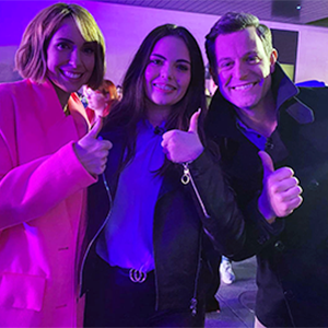 Isabella with Alex Jones and Matt Baker