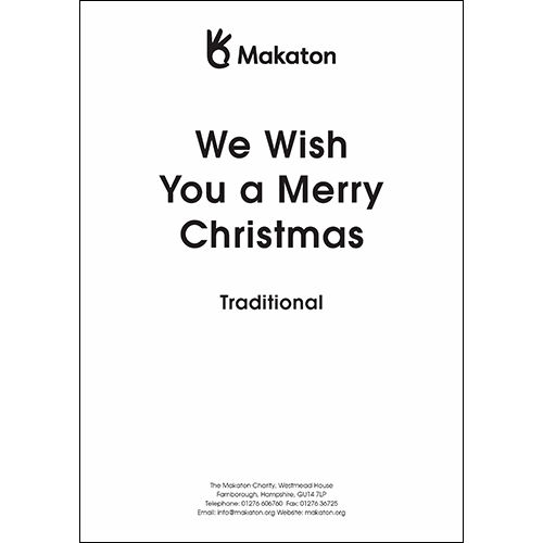 We Wish You A Merry Christmas (PDF file)
