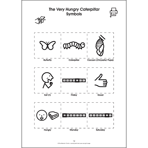 Using Makaton with The Very Hungry Caterpillar (PDF file)