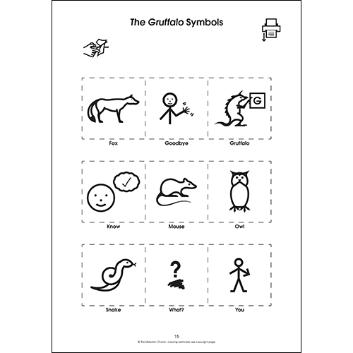 Using Makaton with The Gruffalo (PDF file)